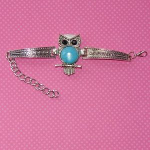 Jewelry - Super Cute Turquoise Owl Bracelet